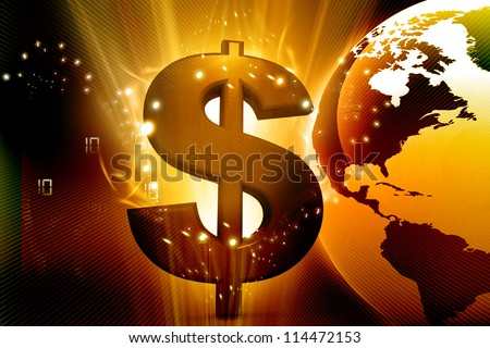 abstract dollar background - stock photo