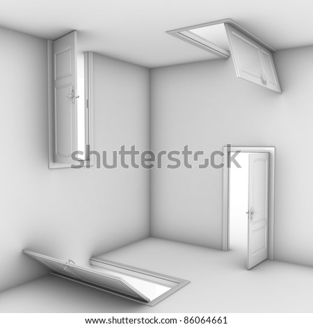 abstract doors - stock photo