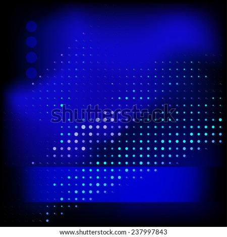 Abstract dotted dark blue template. Raster version - stock photo