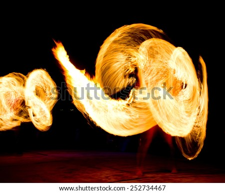 Abstract Drawing Flaming Trails  - stock photo