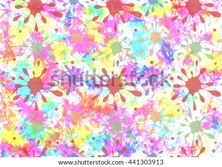 Abstract drawn watercolor colorful bright background with brushstrokes, spots and blots. Gorizontal artistic creative banner. Series of Watercolor, Oil, Pastel, Chalk and Inc Backgrounds. - stock photo