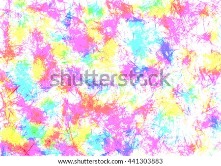 Abstract drawn watercolor crumpled bright background with brushstrokes in pink and blue colors. Gorizontal artistic creative banner. Series of Watercolor, Oil, Pastel, Chalk and Inc Backgrounds. - stock photo