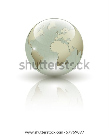 Abstract Earth globe composition - stock photo