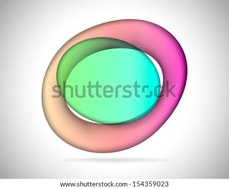 Abstract elliptic colorful glass as text placeholder - stock photo