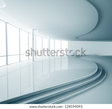 Abstract empty modern interior - stock photo