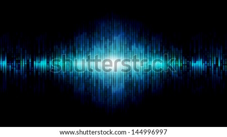 Abstract equalizer background blue - stock photo