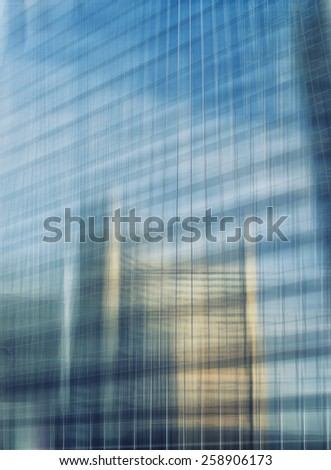 Abstract facade lines and glass reflection on modern building,abstract background - stock photo