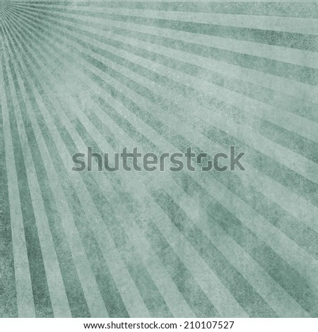 abstract faded retro background, blue and white distressed vintage sunburst design pattern of stripes or lines radiating from corner, grunge background texture - stock photo