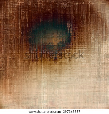 Abstract faded retro background or shabby texture with vintage style design and different color patterns: yellow (beige); brown; blue; gray; white - stock photo