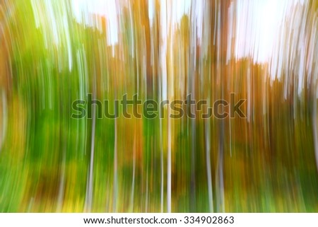 Abstract :Fall Colors with motion blur - stock photo