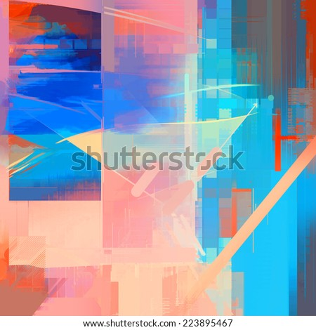 Abstract fantasy art background - stock photo
