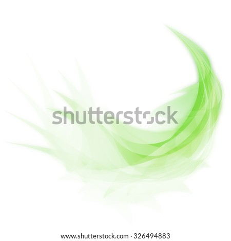 Abstract feather design - stock photo