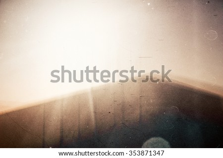 Abstract film background. Lot of grain, scratches and dust. - stock photo