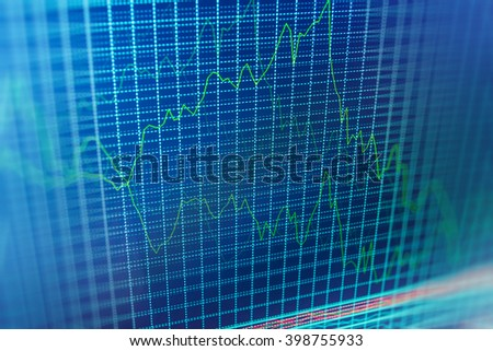 Abstract financial background trade colorful. Stock market and other finance themes. Candle stick graph chart of stock market investment trading. Stock exchange graph.   - stock photo