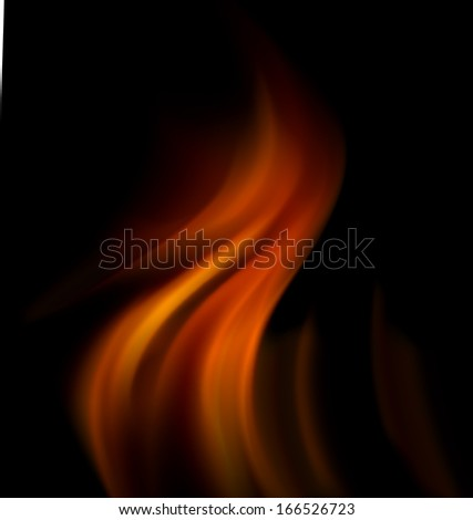 abstract fire. - stock photo