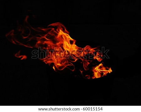 abstract fire - stock photo