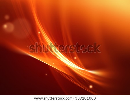 abstract fire background with smooth soft lines - stock photo