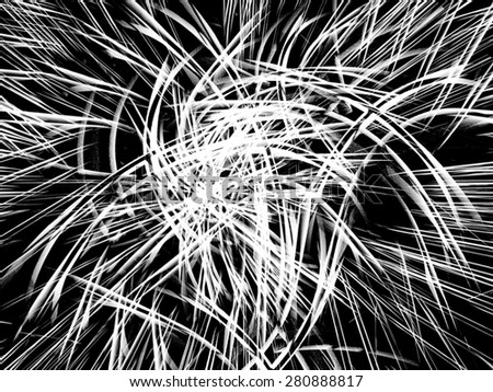 Abstract Fireworks - stock photo