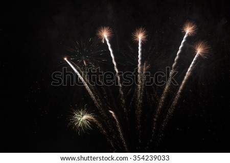 Abstract fireworks during fireworks world championships in Scheveningen - stock photo