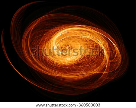 abstract flaming twisted quasar black hole - stock photo
