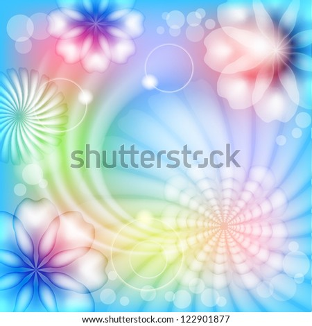 Abstract floral background. Raster copy of vector image - stock photo