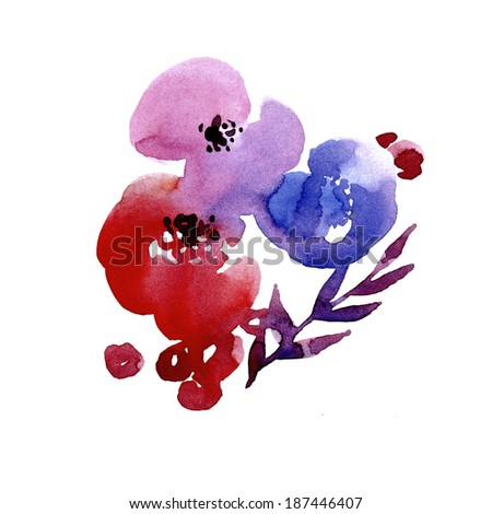 Abstract floral design element - stock photo