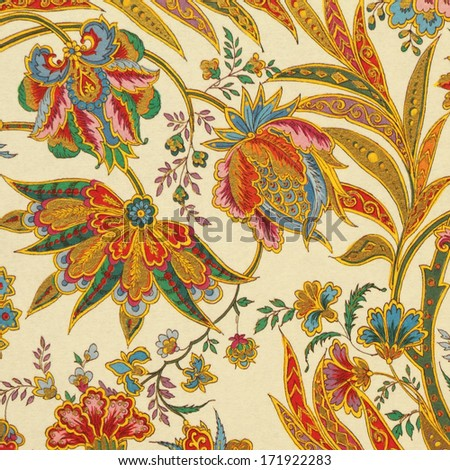 abstract floral pattern detail, Florence - stock photo