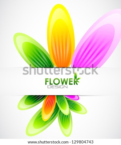 Abstract flower background - stock photo