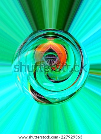 Abstract flower screen saver - stock photo