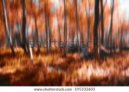 abstract  forest ,abstract nature forest,artistic background - stock photo