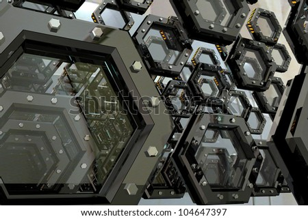 Abstract forms of mechanisms - stock photo