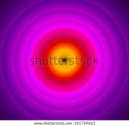 Abstract fractal background with a pattern of large rings and glowing central disc, in high resolution and in vivid yellow,red,pink - stock photo