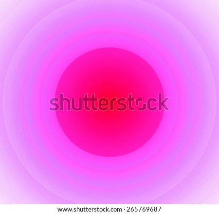 Abstract fractal background with a pattern of large rings and glowing central disc, in high resolution and light red and pink - stock photo