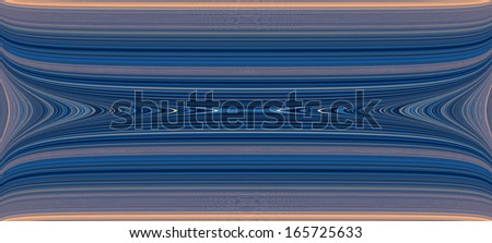 Abstract fractal high resolution blue and brown background with a detailed abstract pattern/texture on it consisting of various abstract shining lines, circles, waves and shapes. - stock photo