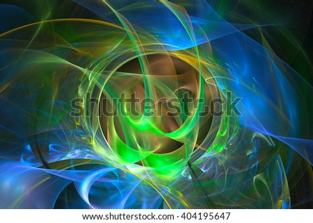 Abstract fractal light background - stock photo