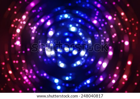 Abstract fractal multicolored background with crossing circles and ovals. disco lights background. - stock photo