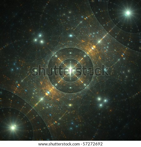 abstract fractal rendering resembling sparkles in space - stock photo