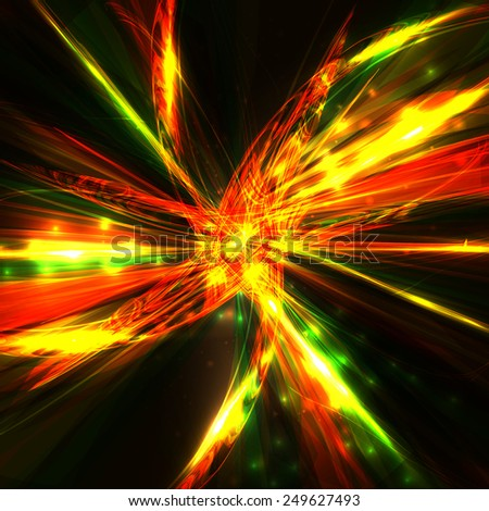 Abstract fractal, swirl  background, futuristic wave illustration  - stock photo