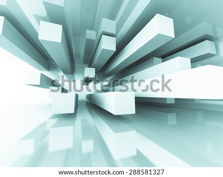 Abstract Futuristic Architecture Element Design Background. 3d Render Illustration - stock photo