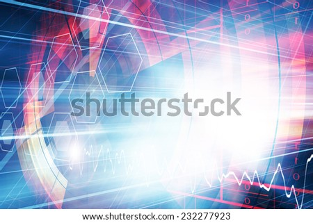 Abstract Futuristic Background Design,Multicolored - stock photo