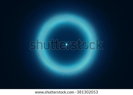 Abstract futuristic circular background - stock photo