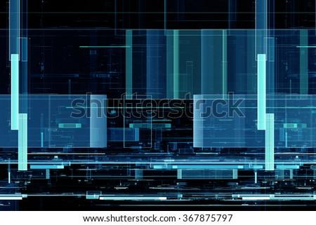Abstract futuristic matrix like pattern background - stock photo