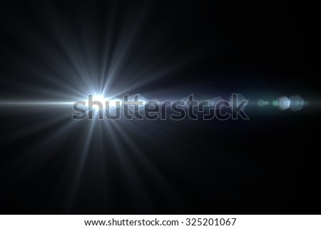 Abstract galactic space scape background with distant stars - stock photo