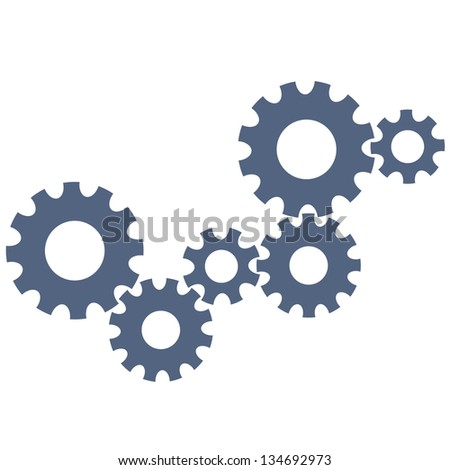 Abstract gear wheels.Raster version - stock photo