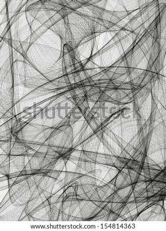 Abstract generated black and white pattern background - stock photo