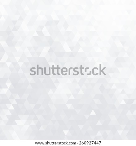 Abstract geometric background consisting of light gray triangles. - stock photo