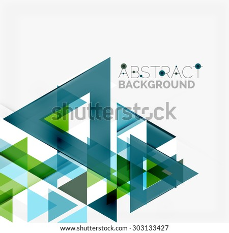 Abstract geometric background. Modern overlapping triangles. Unusual color shapes for your message. Business or tech presentation, app cover template - stock photo