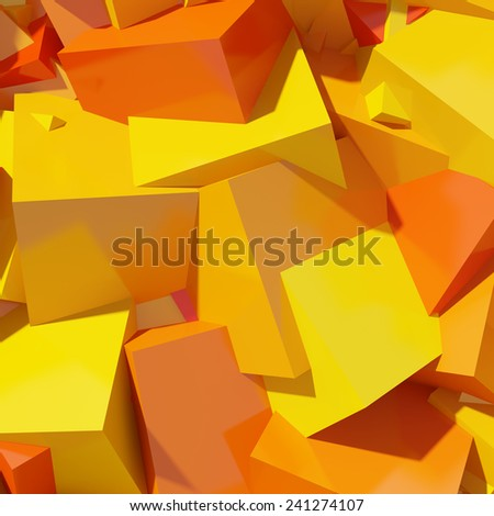 Abstract geometric background of colored cubes - stock photo