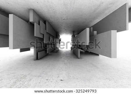 Abstract geometric background of concrete cubes - stock photo