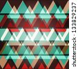 Abstract geometric background with colorful stripes - raster version - stock photo